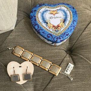 """NWT, Brighton """"Pharaoh's Gift"""" Earrings & Bracelet"""